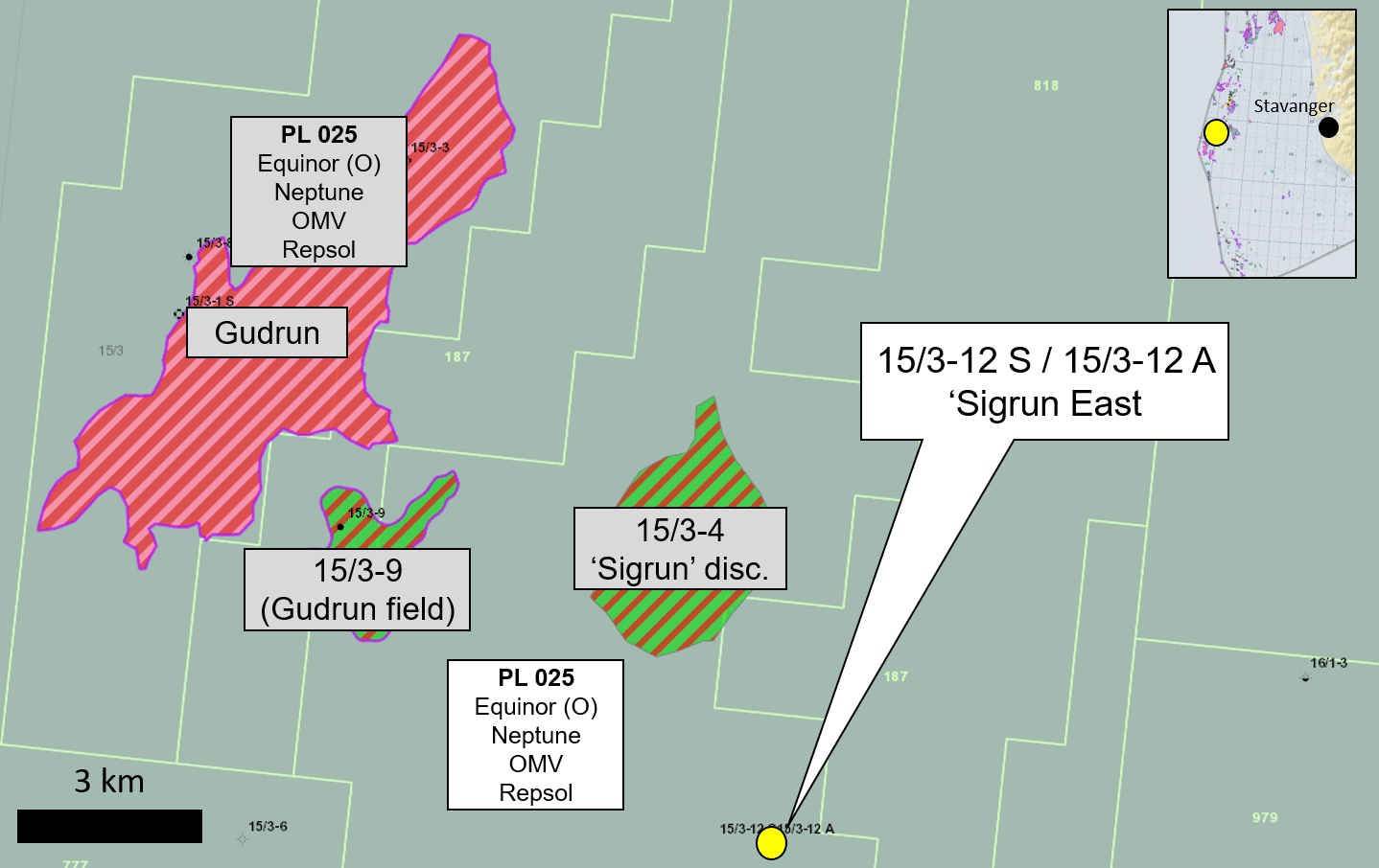 Small oil discovery in Sigrun East next to Gudrun