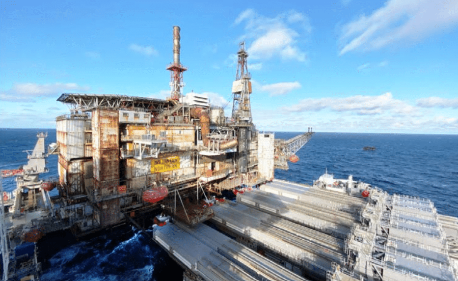Another Northern North Sea giant removed