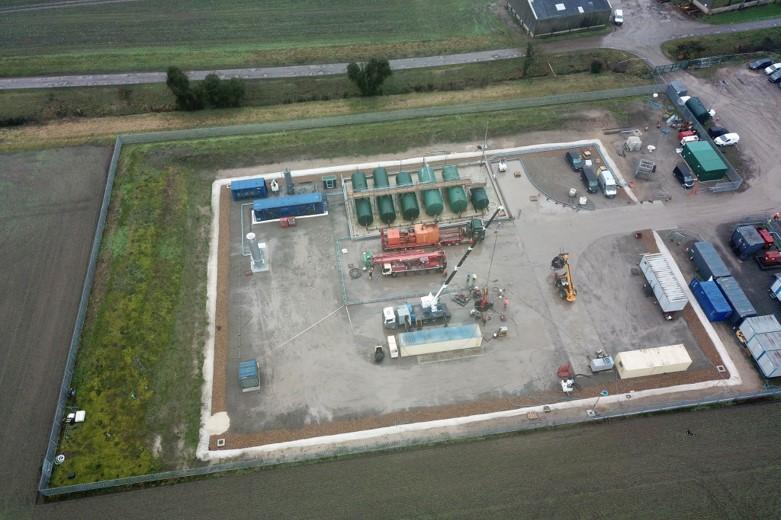 Oil flows at Wressle development, onshore UK